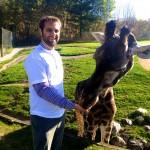 Daniel with Giraffe