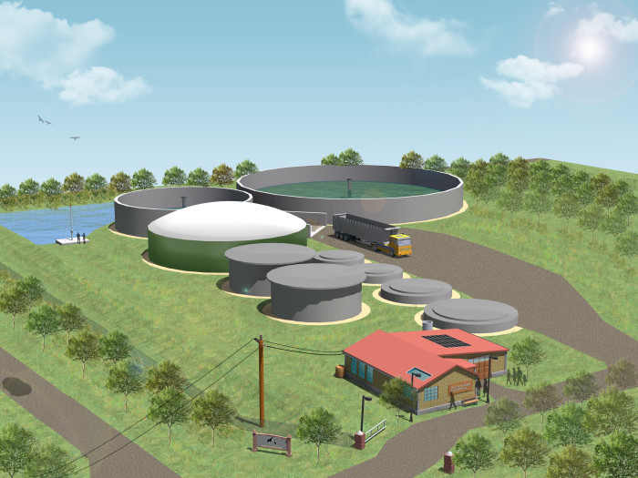 ZooShare Biogas Plant 3D Illustration 1