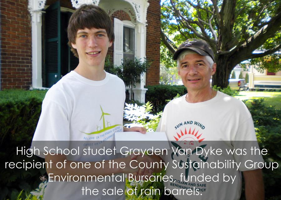 County-Sustainability-Group-Bursary-Winner-Graydon-VanDyke-with-CSG-member-Don-Ross