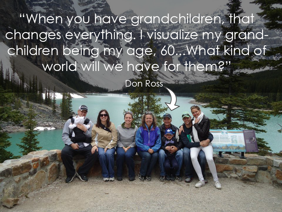 Don Ross and Family at Lake Louise