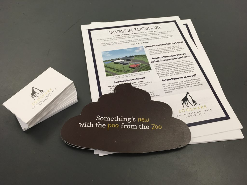 If you've seen us at an event, these materials will look familiar. We printed them with Warren's, who received the paper products from Rolland.