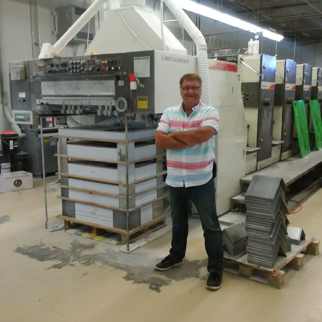 Glenn Laycock, Vice President Account Director of Warren's Waterless at their printing house in Toronto.