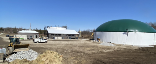 The ZooShare Biogas plant site on a sunny day in March 2021
